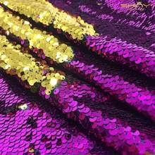 4 фута * 3 фута (125*92 см) Золотой/черный/розовый Реверсивный блесток ткань для платья/скатерти/Дорожка/Свадебные украшения/фоновый материал(Китай)