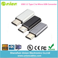 USB 3.1 Male Type-C to Micro USB 2.0 Female Converter Data Adapter for Tablet