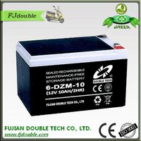 high lead acid battery rechargeable agm 12v 10ah of electric bike kit