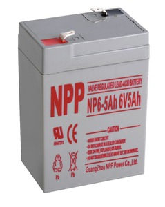 Guangzhou NPP 6v5ah lead acid battery for UPS