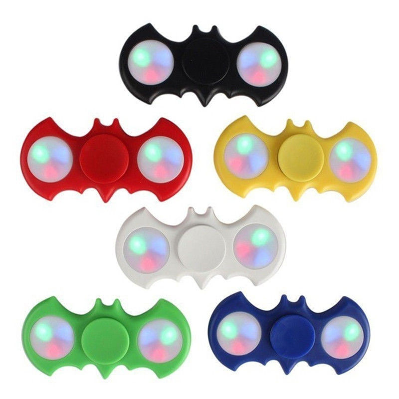 2017 New Design Gadget Glitter Batman Fidget Hand Spinner With Led Light