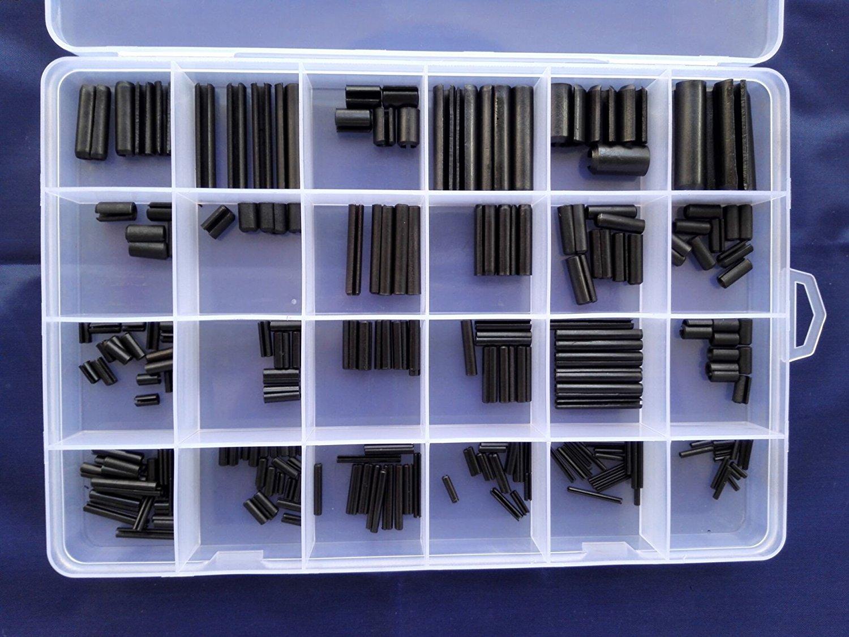 270pcs M1.5-M8 304 Stainless Steel Split Spring Dowel Pin Tension Roll Pins Set