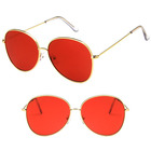 DLL197 Fashion Design CE Ocean Lens Metal Women Men Retro Sunglasses