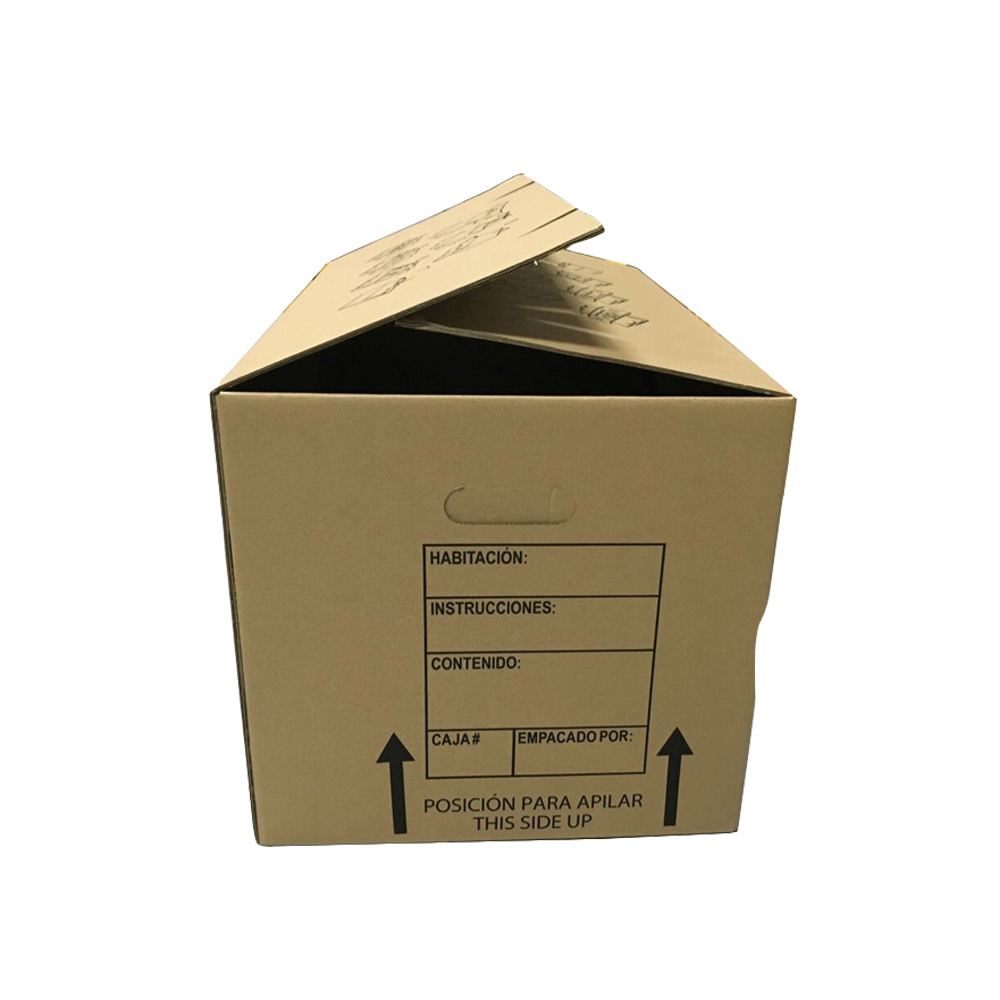 Flat pack folding corrugated paper carton archive box with lid
