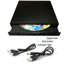 Slim Portable USB 2.0 ภายนอก DVD-RW CD-RW Burner Writer Drive สำหรับ PC MAC
