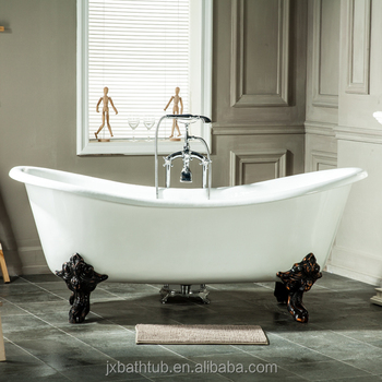 Freestanding Party In The Bathtub Light Antique Roll Top Cast Iron - Party in the bathroom