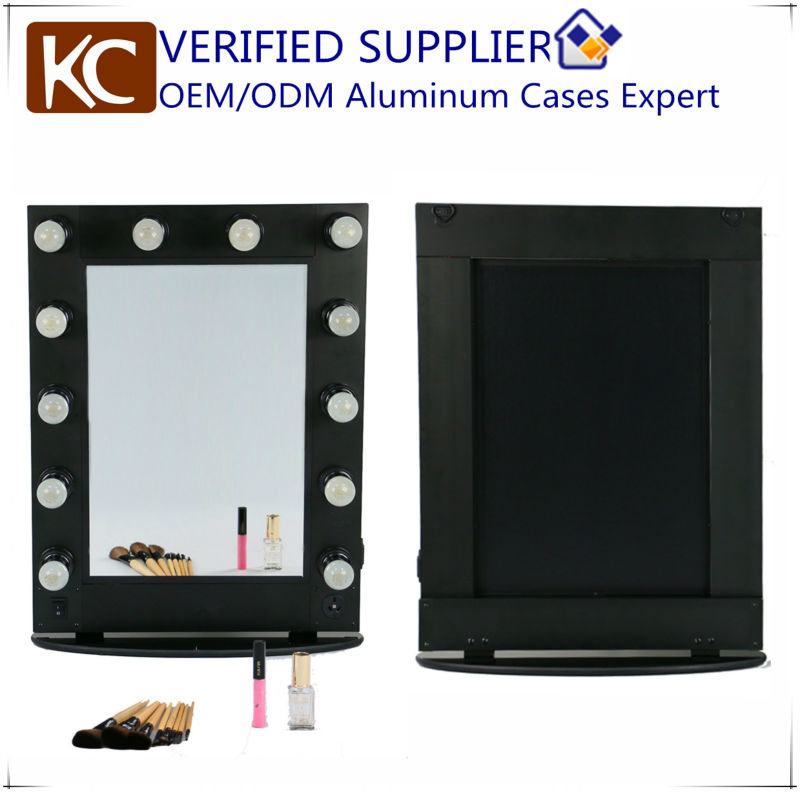 Professional salon hair dressing make up aluminum styling mirror salon hairdressing mirror station salon mirror with lights
