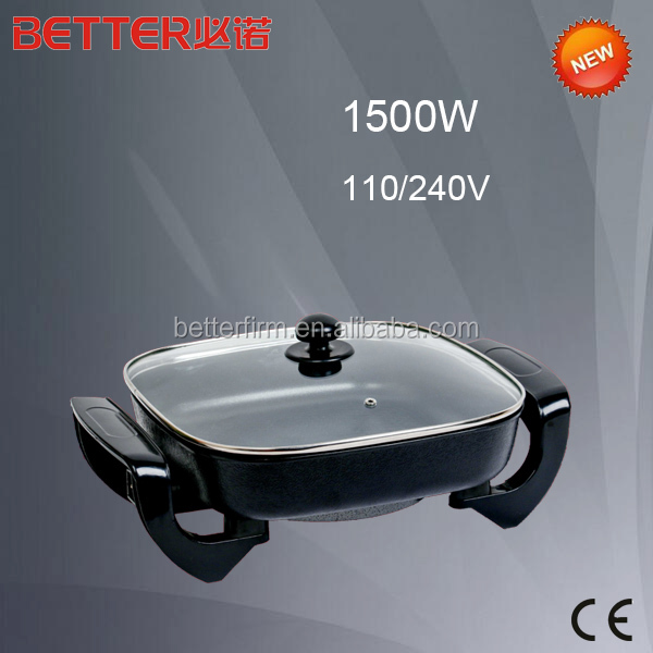 Simple style non stick cheap frying pan electric