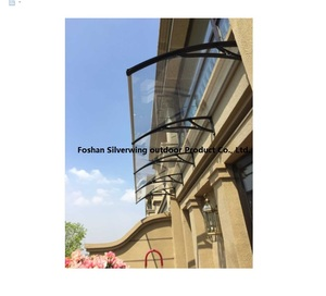 Transparent Polycarbonate Glass Door Canopy Window Awning