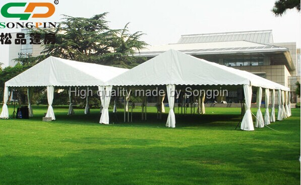 15x20 aluminum frame plastic fabric temporary outdoor works tent with pvc windows for party and event & 15x20 Aluminum Frame Plastic Fabric Temporary Outdoor Works Tent ...
