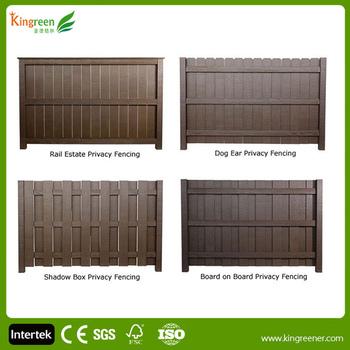 Low Carbon Uv Resistant Wood Plastic Composite Fence For