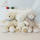 Custom Lovely White Plush Promotional Toy Bear For Baby Gift