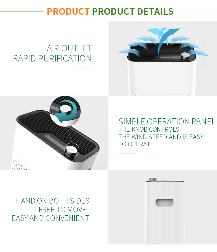 Smart child lock APP control reminder display toilet air purifier humidifier Air Purifier electrostatic air purifier