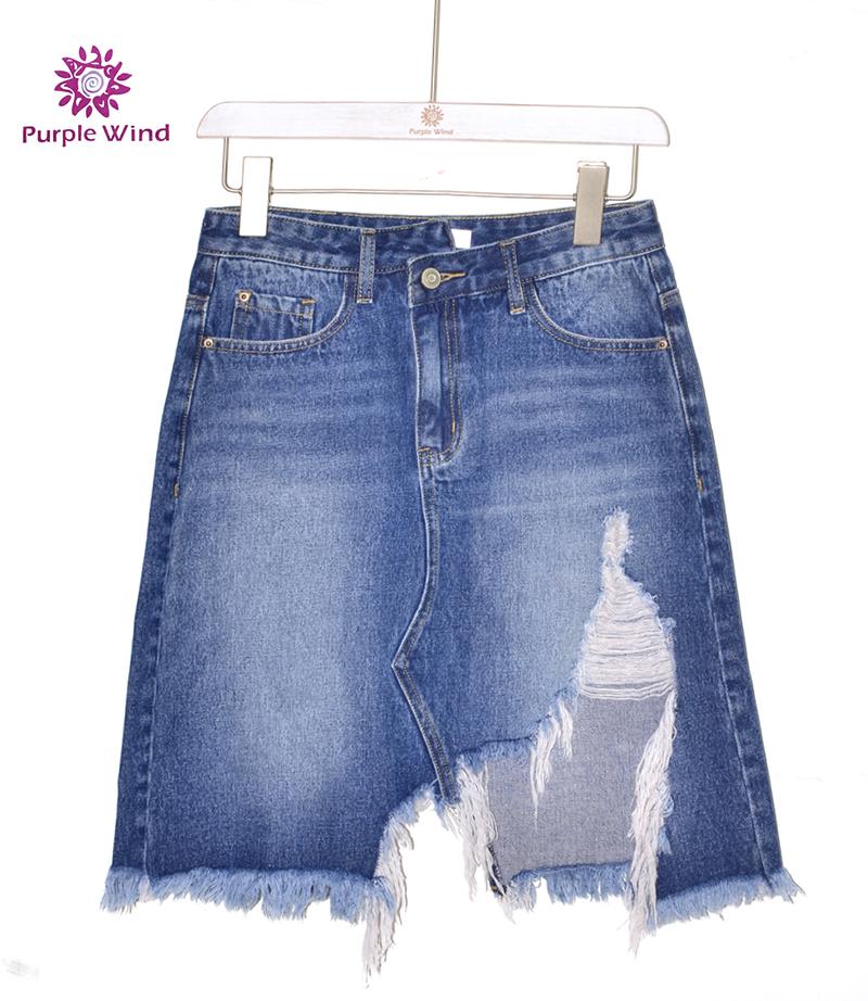 नई डिजाइन मिनी डेनिम फट जीन स्कर्ट महिलाओं सेक्सी छोटी पोशाक
