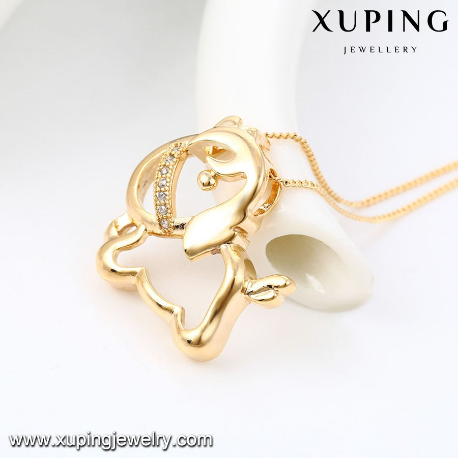 43065 Good Jewelry Wholesale Jewelry animal shape Rose Gold necklace For Sale