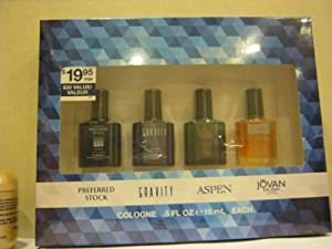 Coty Omni Collection 4 Piece Gift Set for Men, 0.5 Ounce