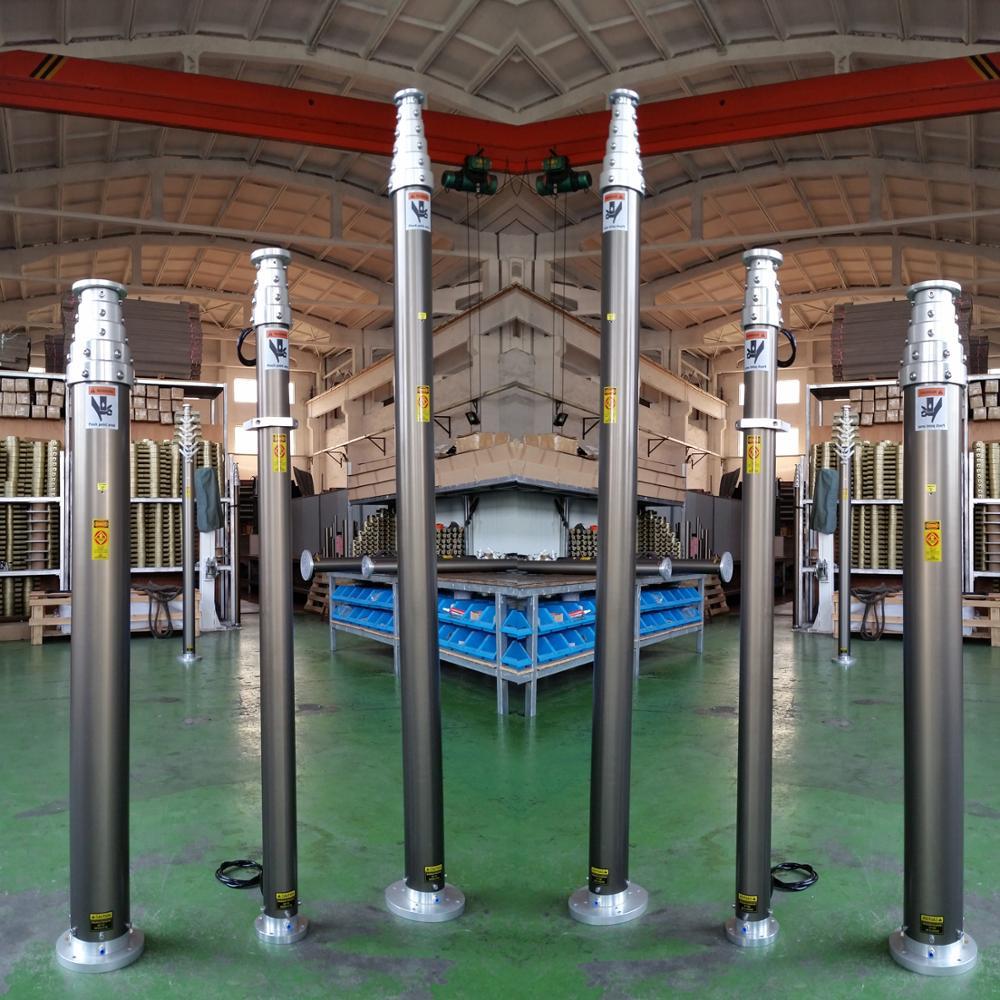 6 м светодиодный рабочий свет пневматический Телескопический штатив