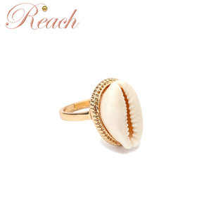 Natural Bohemian Antique Summer Beach Jewelry Shell Rings For Women