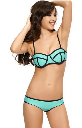 eb4cade931a16 Get Quotations · 2015 Summer Cheap Bikini ON Sale!! Plus Size Swimwear High  Waisted Bikini Girls Swimwear