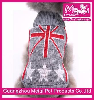 UK flag pattern pet sweater knitting dog clothes sweater wholesale