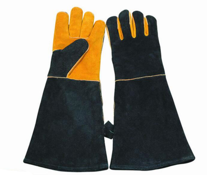 YULAN Cow split leather High temperature grill BBQ GLOVES, OVEN gloves