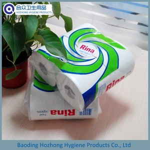 4 Roll Pack Recycled Toilet Tissue Paper /Bath Tissue with Customized Logo