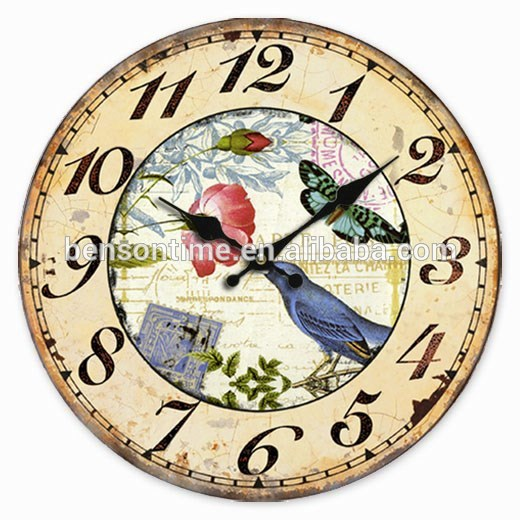 Cason MDF material clock with garden swing pic for decorating