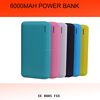 leather power bank 6000mah. portable power banks with charging cable built in match for iphone adater