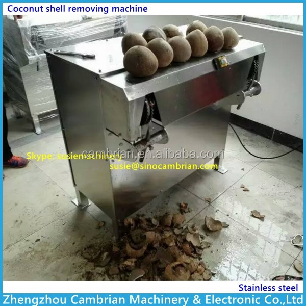 High proformance coir remove machine coconut hulling machine with video
