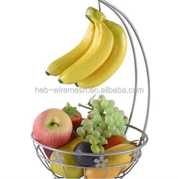 Stainless Steel Fruit Basket With Banana Hanger - Buy Stainless ...