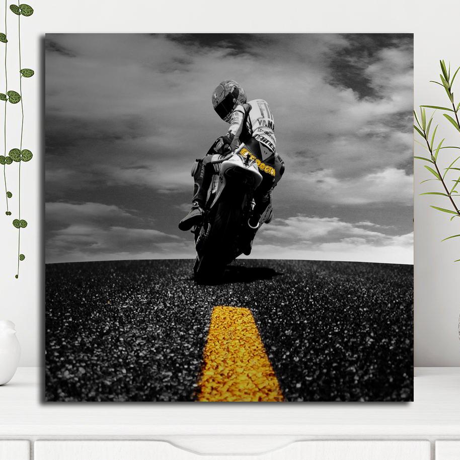 Valentinoロッシ壁紙キャンバスポスタープリント絵画装飾画像モチベーション引用ルームガレージ家の装飾 絵画 書道 Gooum