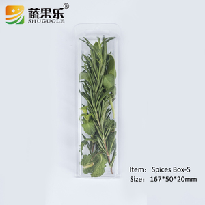 PET Plastic blister herb packaging box with clear lid