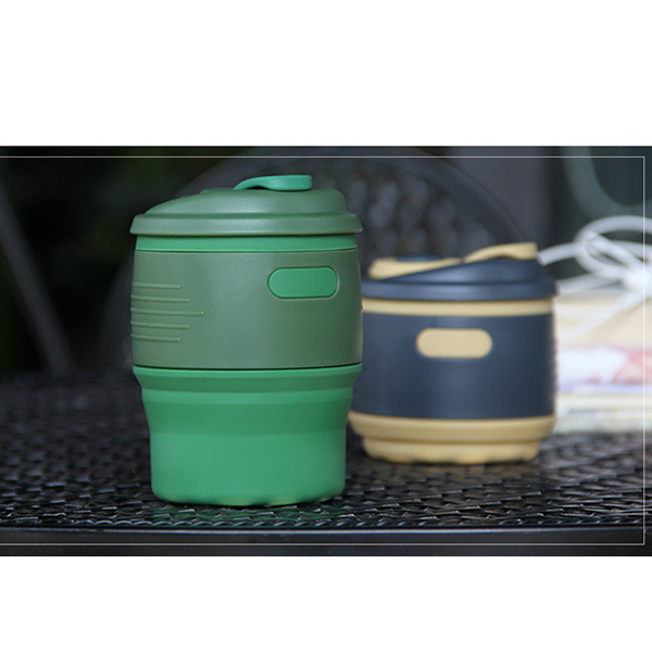 Thermo Collapsible Cups Camping Plastic Folding Coffee Cup Light Small Easy To Carry For School Outdoors Travel