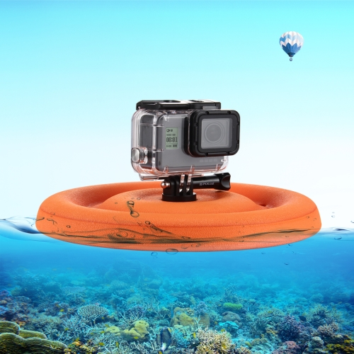 Drop shipping PULUZ EVA Floaty Pet Frisbee Mount with Tripod Adapter & Long Screw for GoPro HERO and Sport Cameras