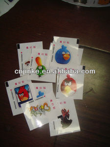Low price bubble gum special design tattoo paper for kids