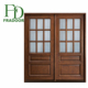 Classic Decorative Pattern Double Leaf Solid Wooden Interior Door