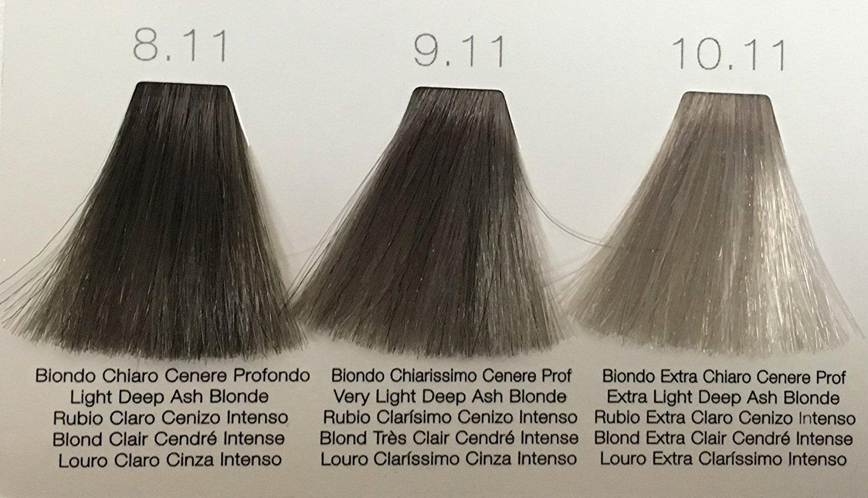 Tec Italy Designer Color Hight Fidelity Color 3 Oz (8.11 Light Deep Ash  Blonde)