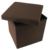 "15"" Tufted Leather Tray Ottoman Coffee Table"