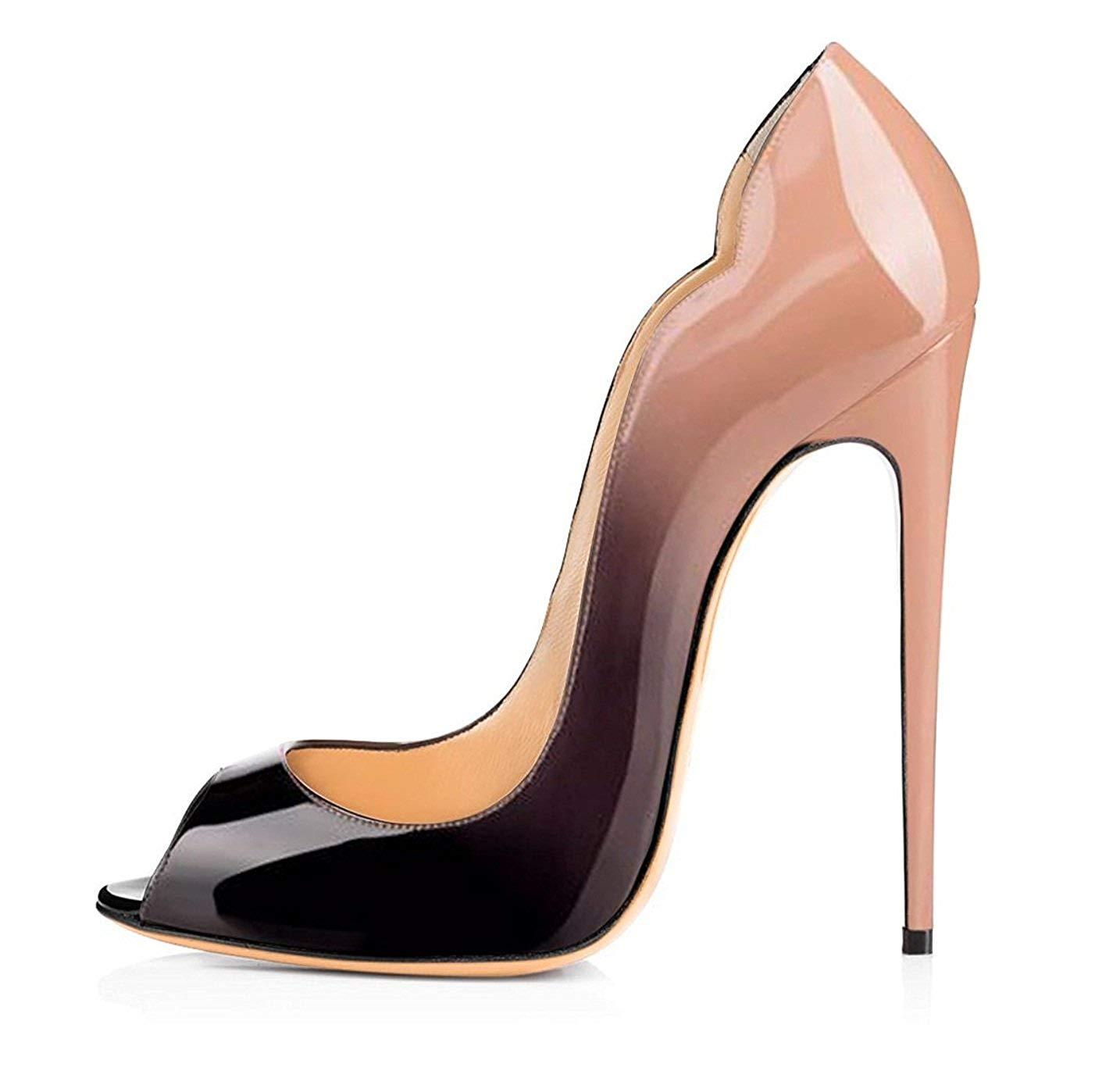 09734cbe7 Get Quotations · Eldof Womens High Heels Peep Toe Stilettos Party Sexy Heels  4