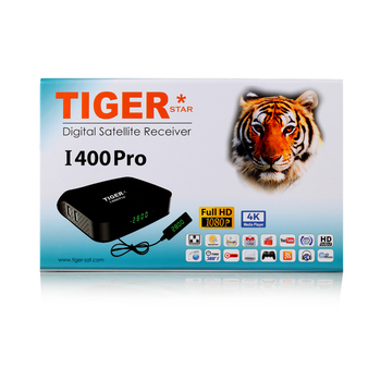 Tiger decoder I400 pro support one year royal for free youtube videos receiver 4k