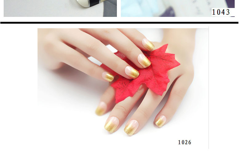 New Fashion shot term colorful artificial nail
