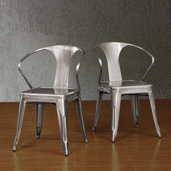 Gunmetal Tabouret Stacking Chair