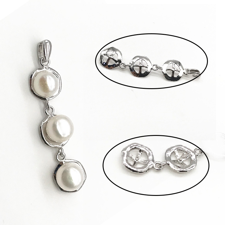 Best selling Elegant Women 925 sterling silver pendant Pearl pendant pearl pendant necklace