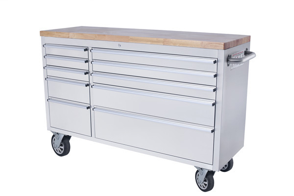 Hyxion - Thor 56 Inch 10 Drawer Csps Stainless Steel Tool Chest ...