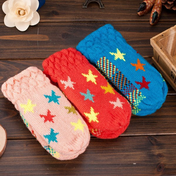 TA19119 Korean new children's thick warm knitted gloves for baby