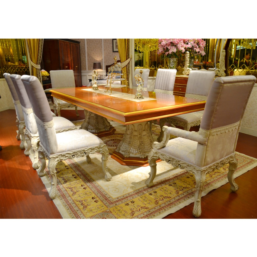 Yb4 4 Seater Solid Wood Dining Table And Chairs,Long Dining