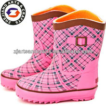 Middle warm rubber rain boots haix boots for kids