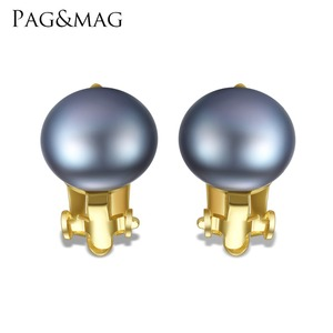 PAG&MAG Women Fashion 925 Sterling Silver Pearl No Need Ear Pierced Clip On Earrings