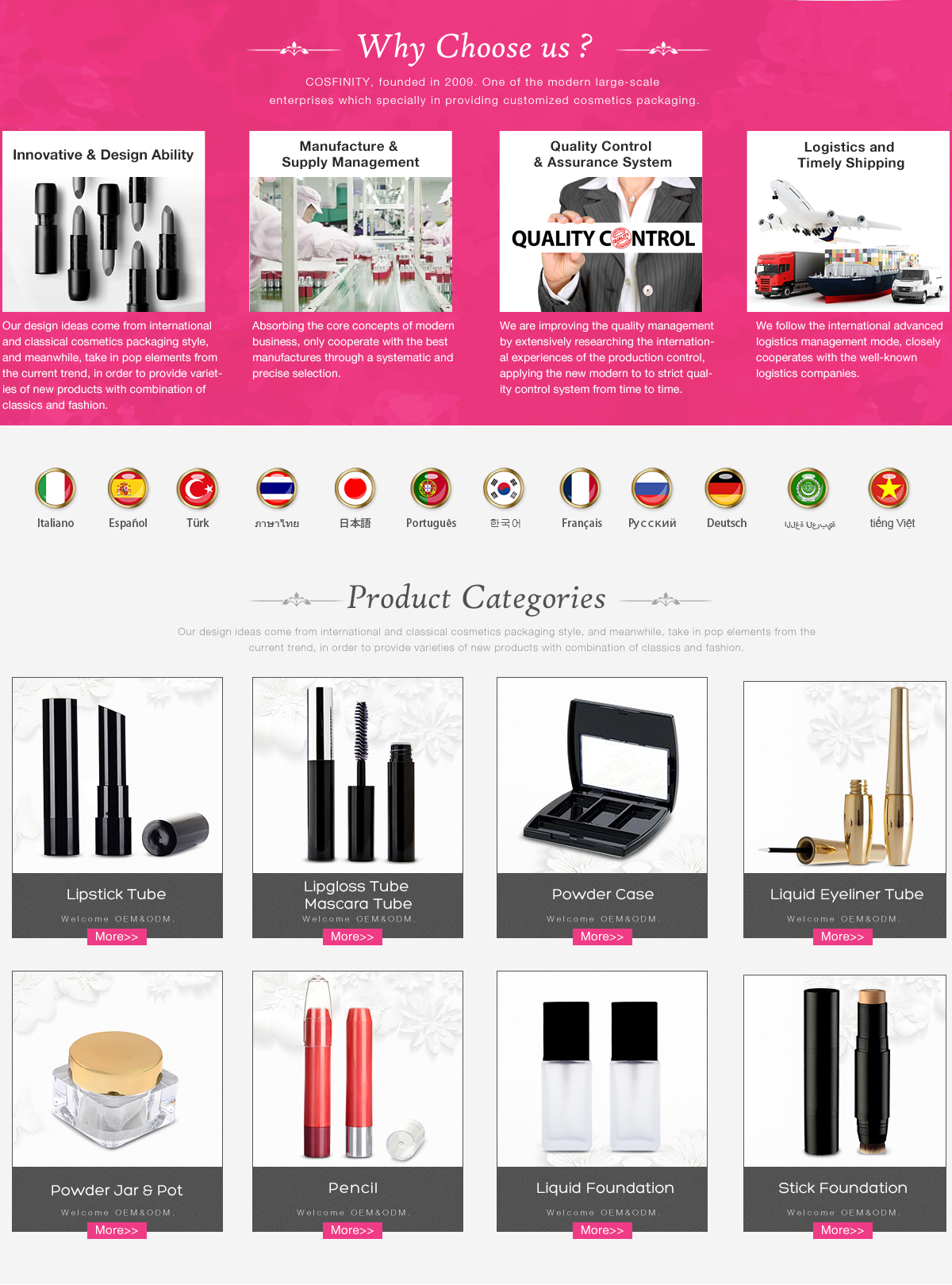Guangzhou Cosfinity Cosmetics Co Ltd Package Amplo Putih Chat Online
