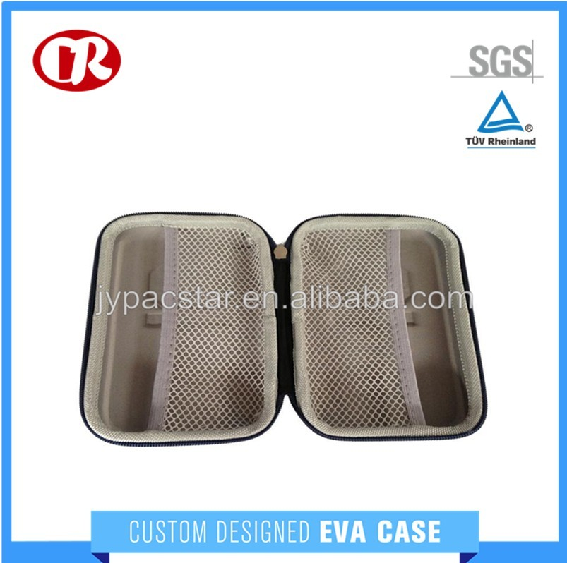 Zipper knitted fabric surface custom requirement EVA carry case